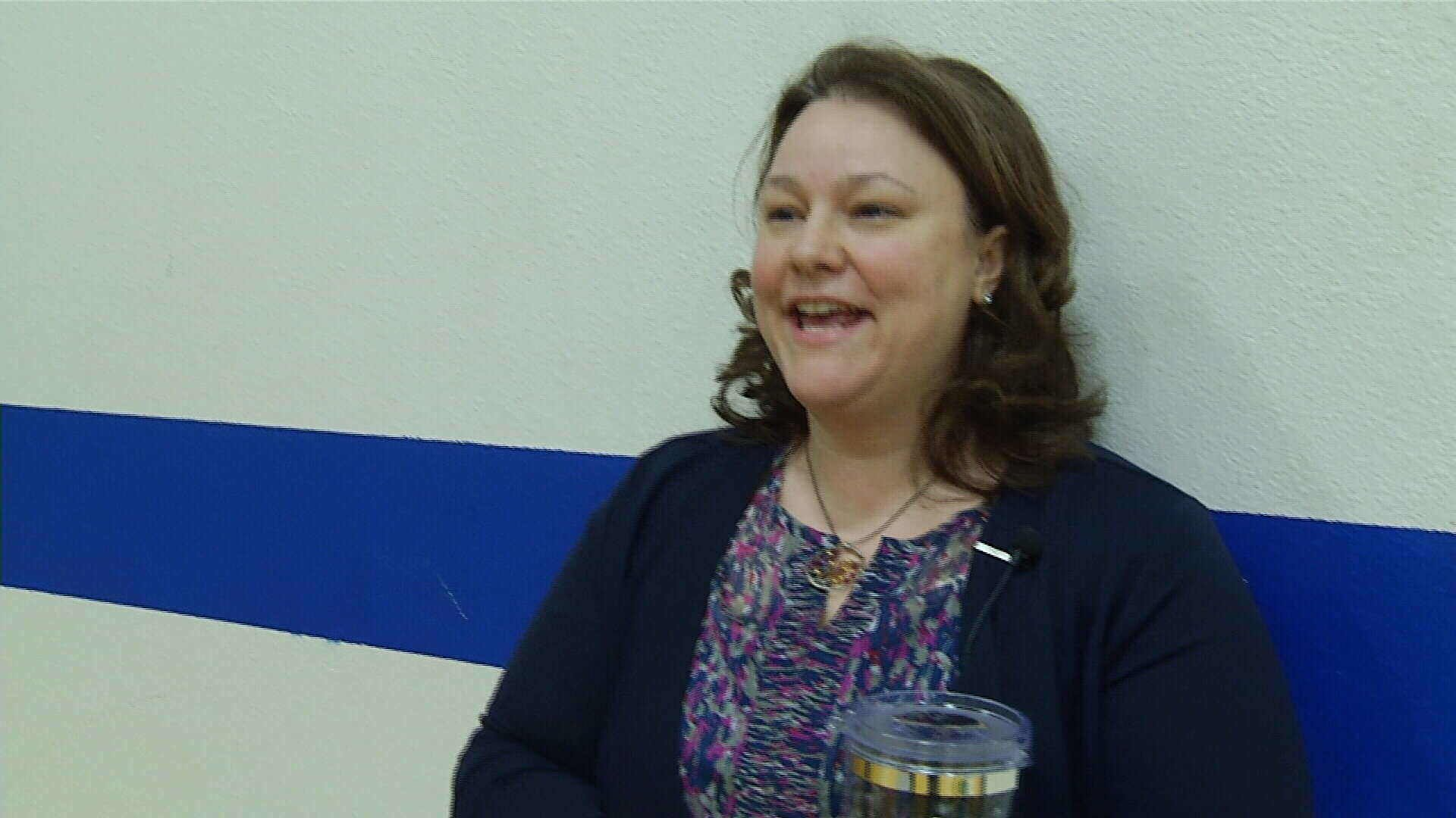 Heather Jarrett, Reed Point Schools Art Teacher is this week's One Class at a Time winner (MTN News photo)