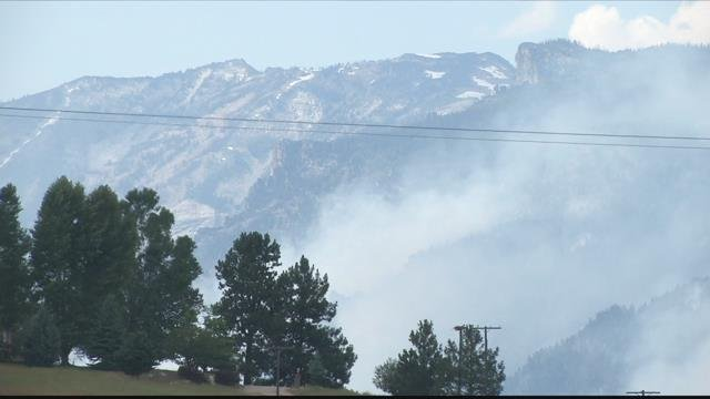 The Observation fire continues to burn in the Bitterroot. (MTN News photo)