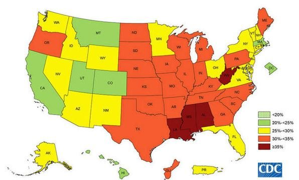 Kentucky Obesity Rate is 5th Highest in Nation, New Study Finds