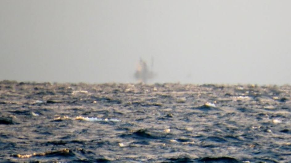 Mysterious 'ghost ship' spotted shimmering on a lake