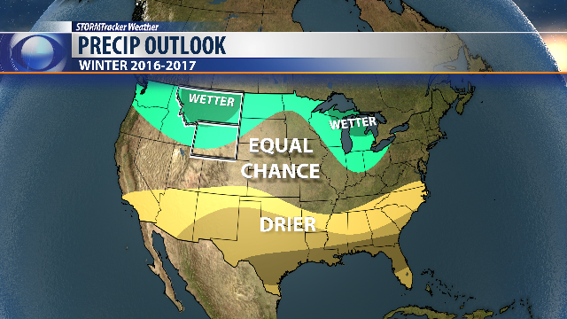 Winter outlook: Warm south; cooler north; murky in middle