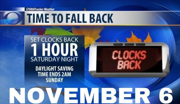 When do we turn the clocks back?
