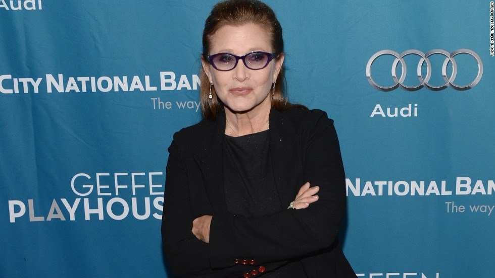 Carrie Fisher suffered a heart attack