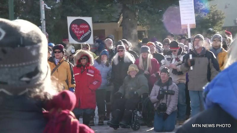 "The ""Love Not Hate"" block party was held in Whitefish on Saturday to show solidarity against the anti-Semitic group."