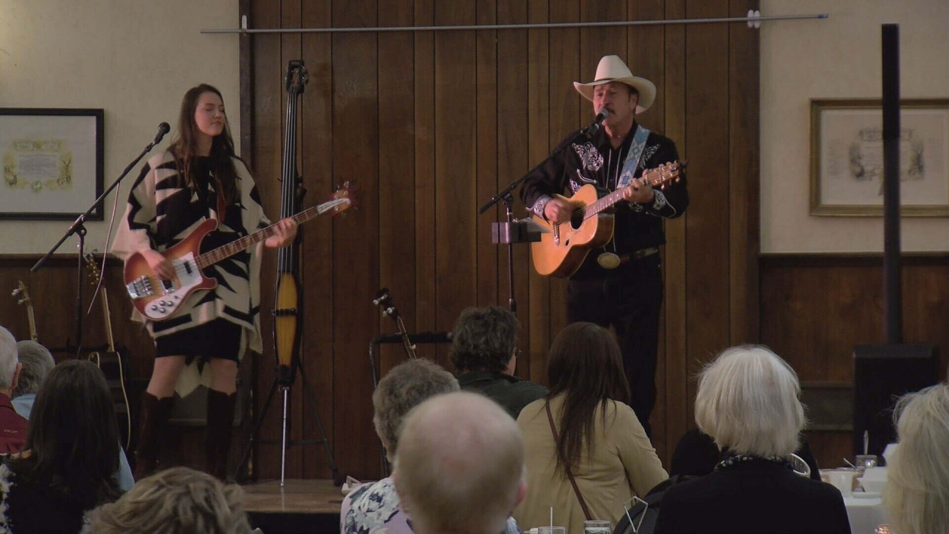 Rob Quist and his daughter Halladay performing at the Elks Lodge in Billings.