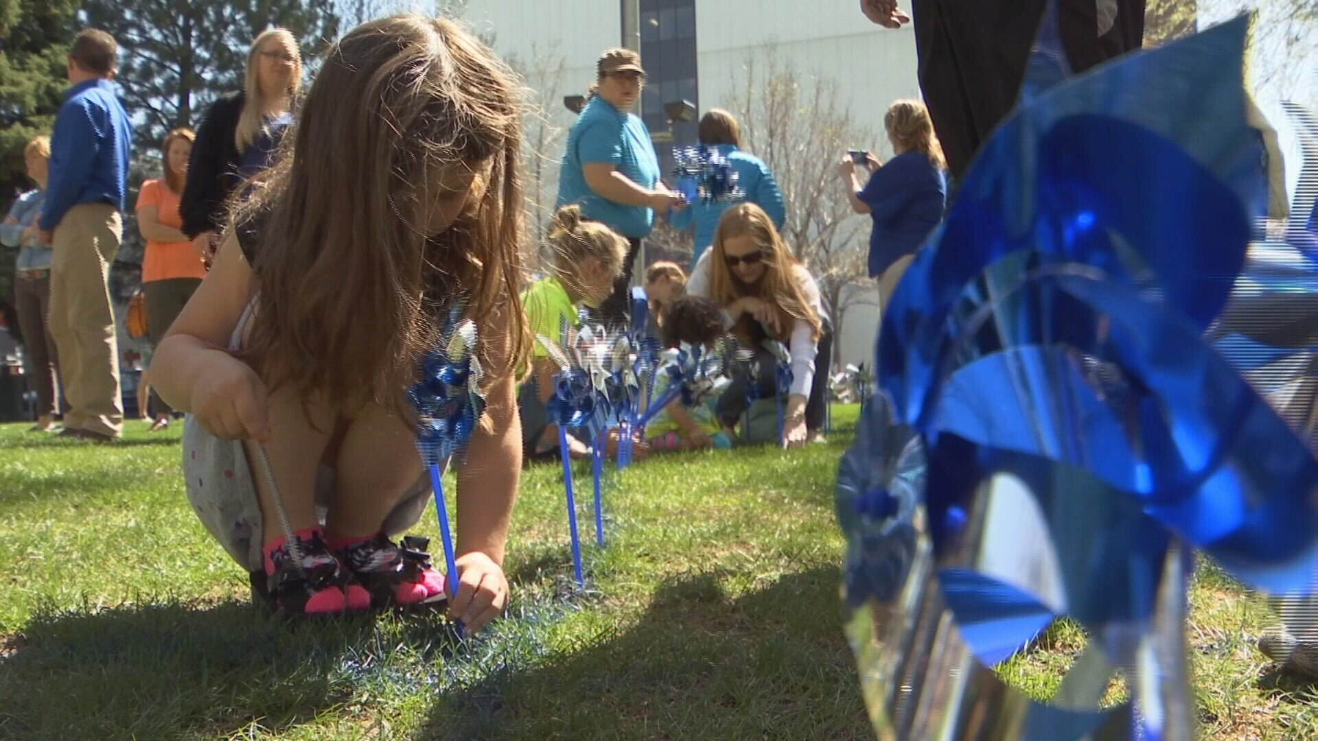 Community Pinwheel Garden Planting for Child Abuse Prevention Month