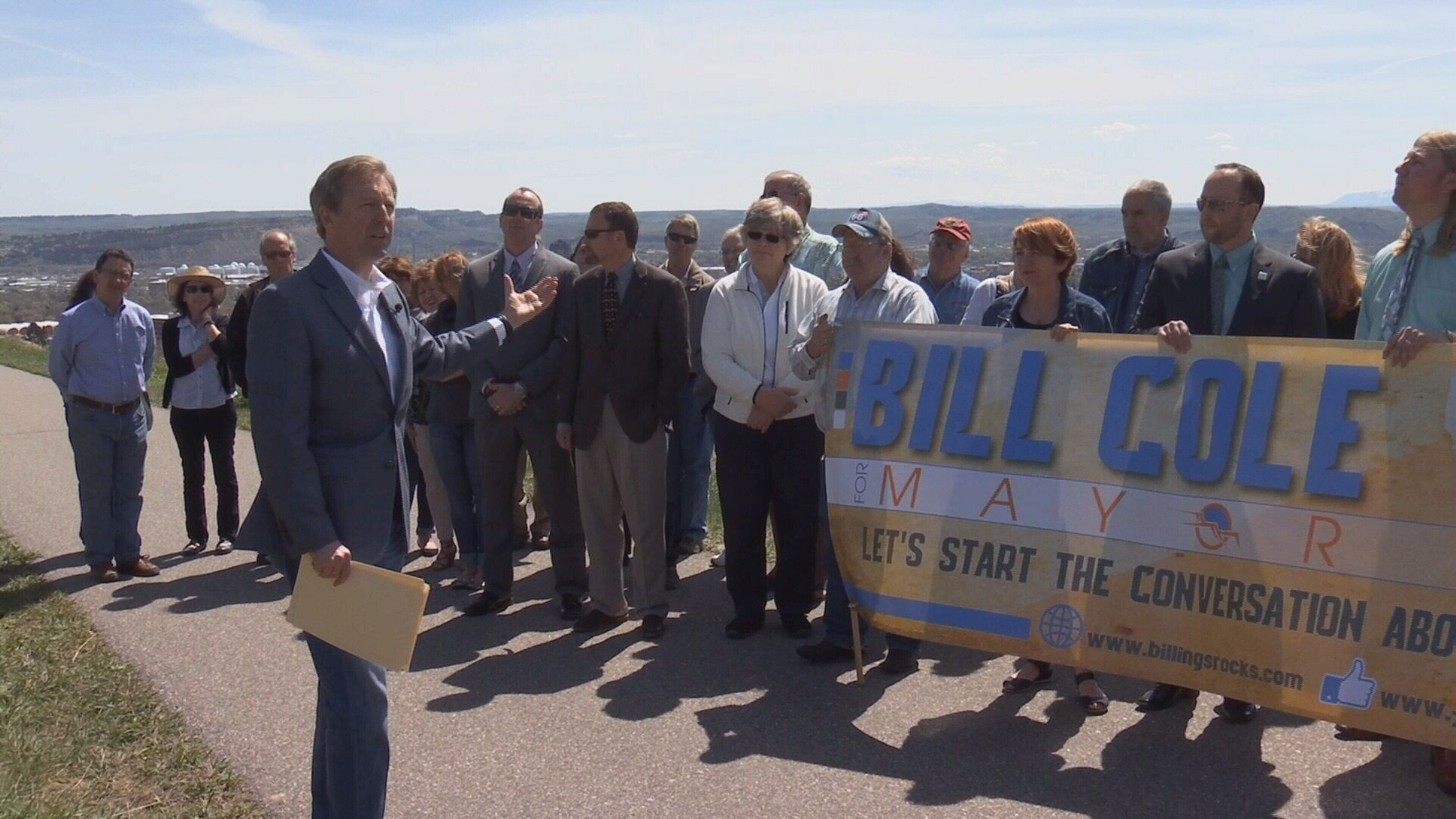 Bill Cole announces he is running for mayor of Billings.