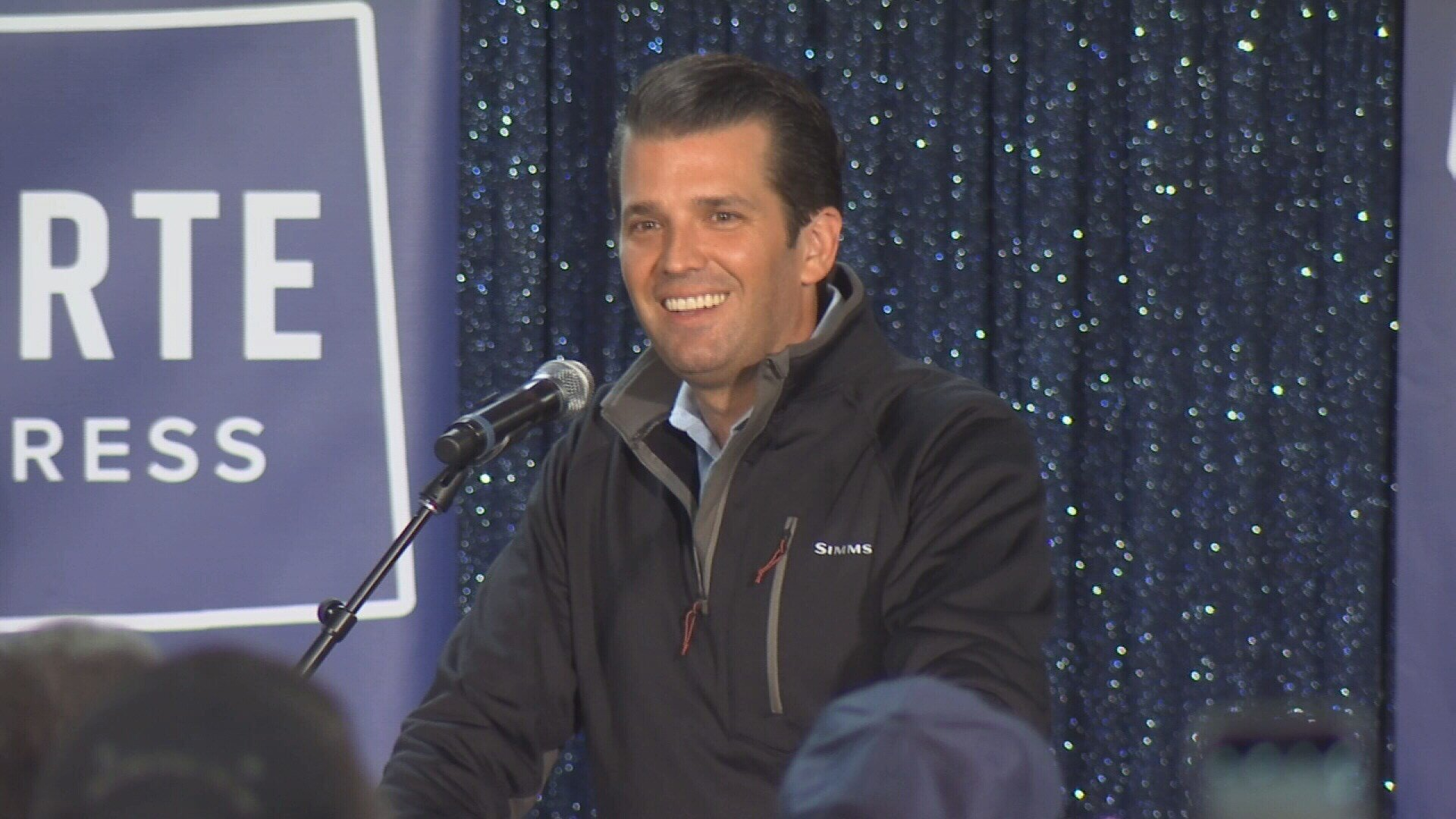 Donald Trump Jr., shown here at a rally in Montana, has agreed to testify before the Senate Judiciary Committee. (MTN News)