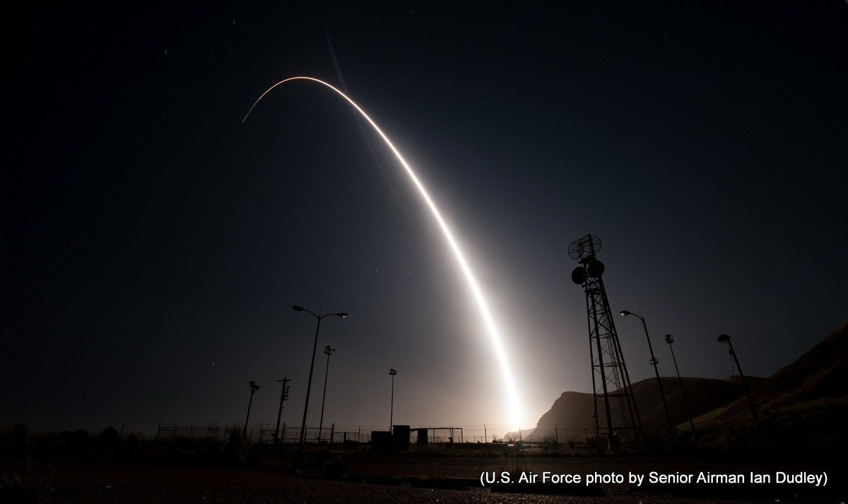 Air Force launches unarmed missile for test in California