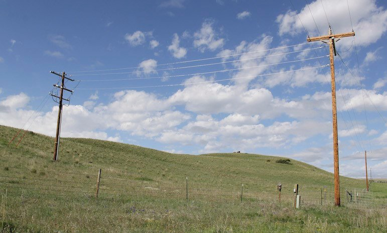 One recent project of Beartooth Electric Cooperative was to run new power lines to the Tippet Rise Art Center near Fishtail. Tippet Rises generates some of its own power, but augments it with energy from the co-op. (Ed Kemmick/Last Best News)
