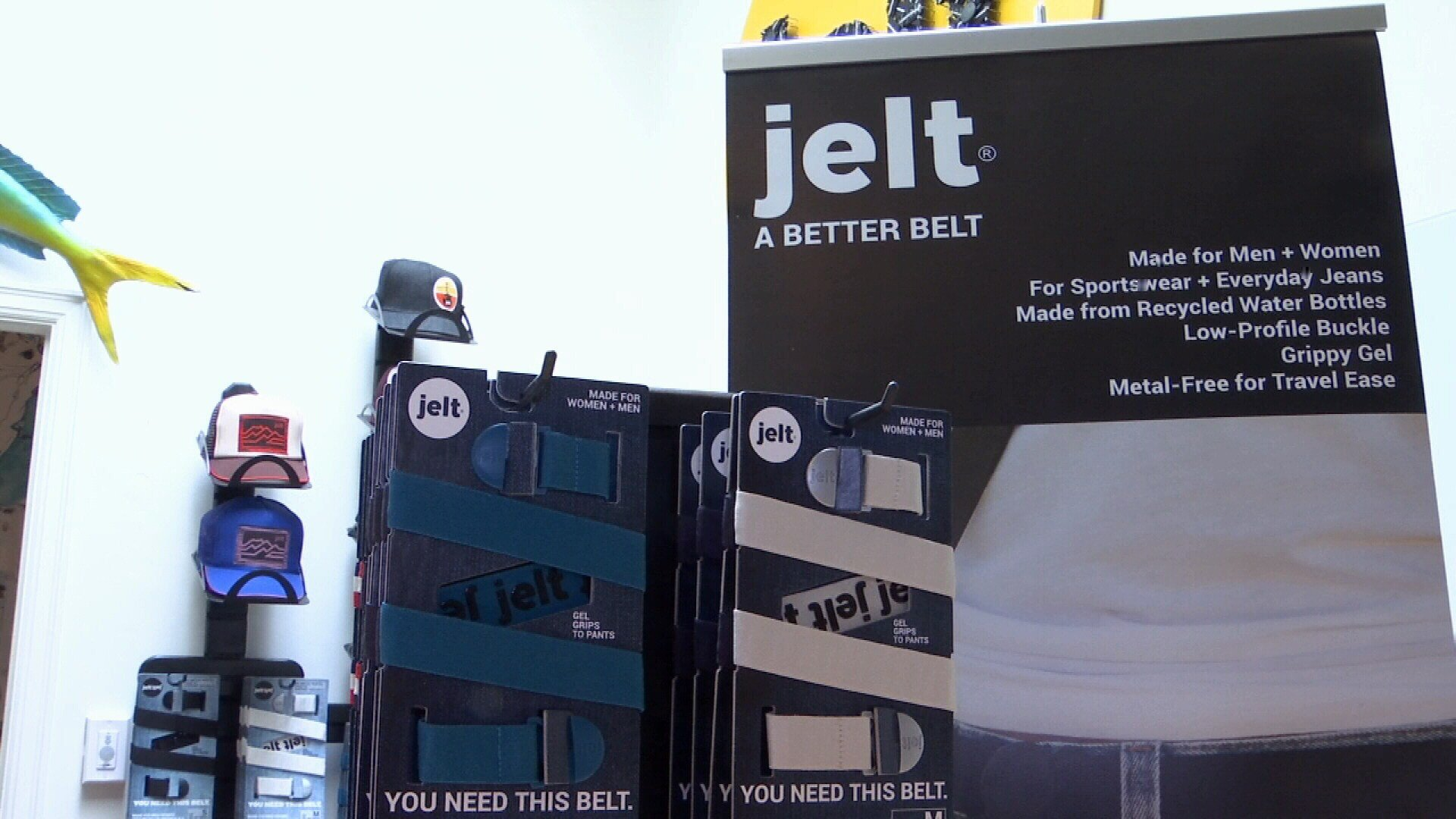 Jelt Belts are manufactured at the Montana Women's Prison (MTN News/Paul Humphrey Photo)