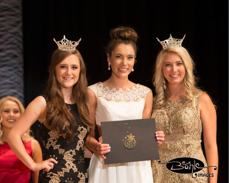 On the first night of preliminary competition for the title of Miss Montana, Madison (Maddie) Murray of  Corvallis won evening gown.