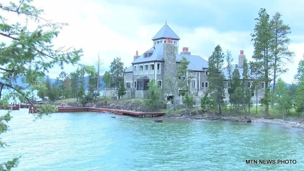 Montana's most expensive piece of real estate sits right in the middle of Flathead Lake.