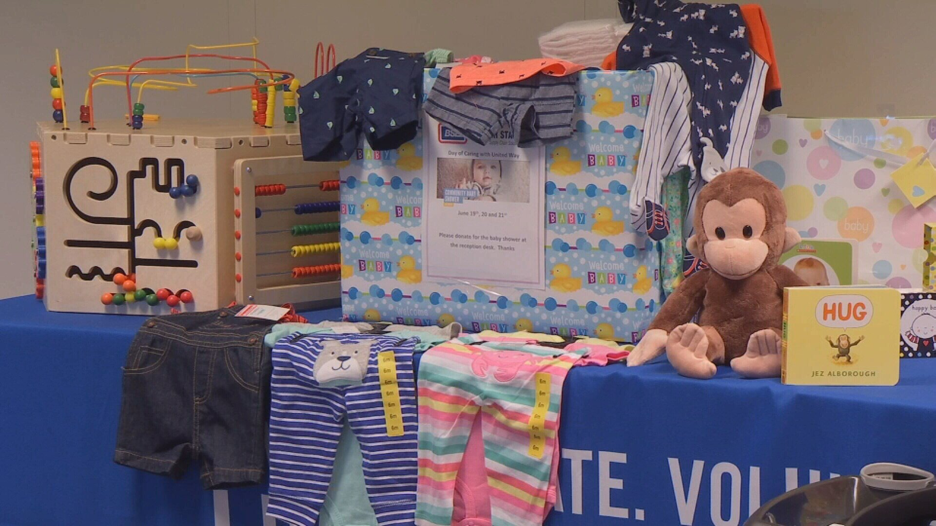 Donations were stacked high at the United Way of Yellowstone County (MTN News)
