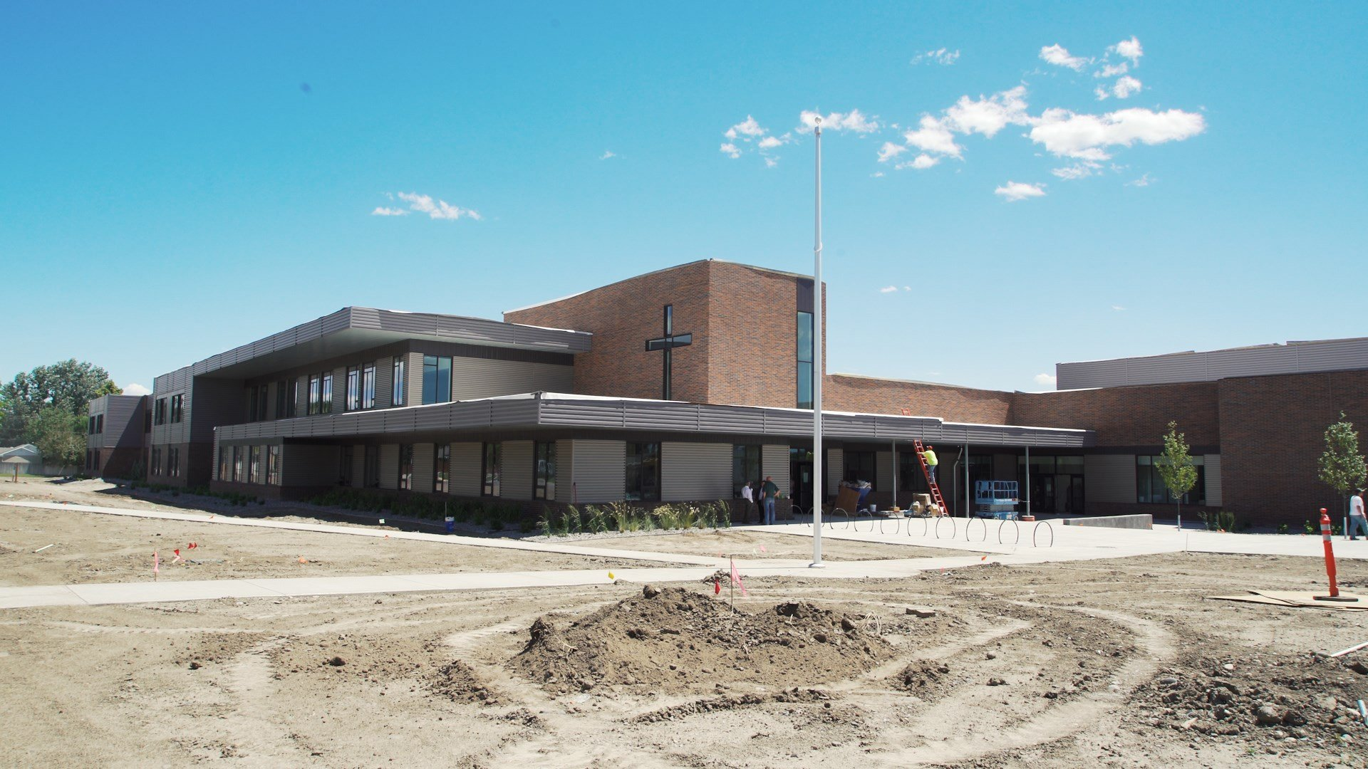 Construction of the new school is set for completion in July (MTN News/Brandon Sullivan Photo)