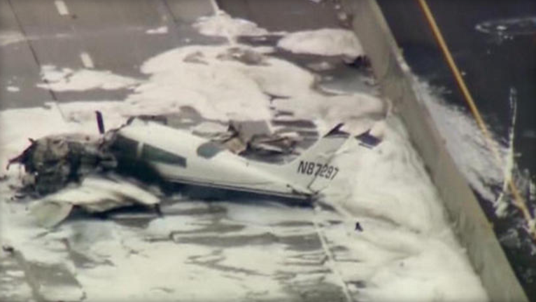 Plane Crash on California Freeway Injures 2 Passengers