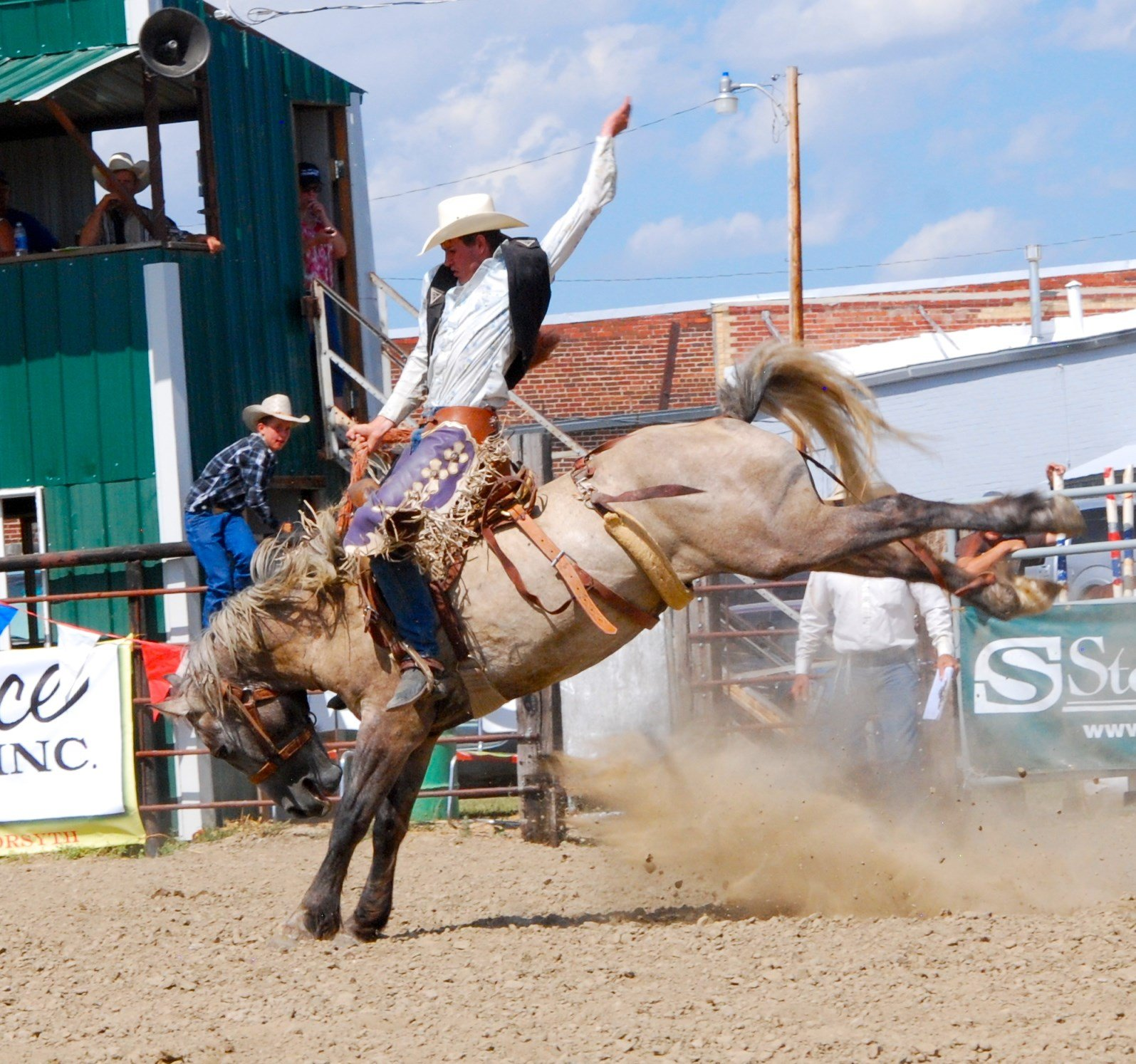 The annual rodeo draws riders from across Eastern MT (Cameron)