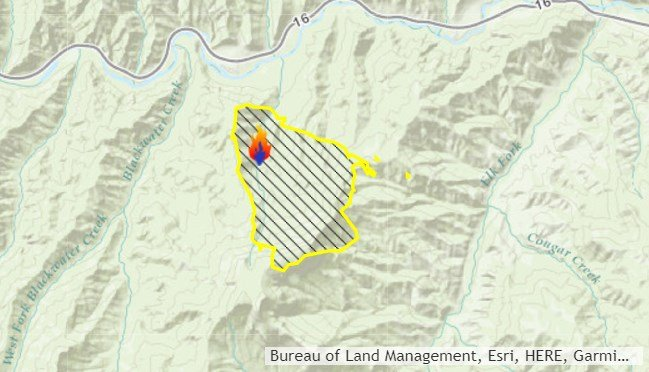 The June Fire is burning west of Cody (Inciweb)
