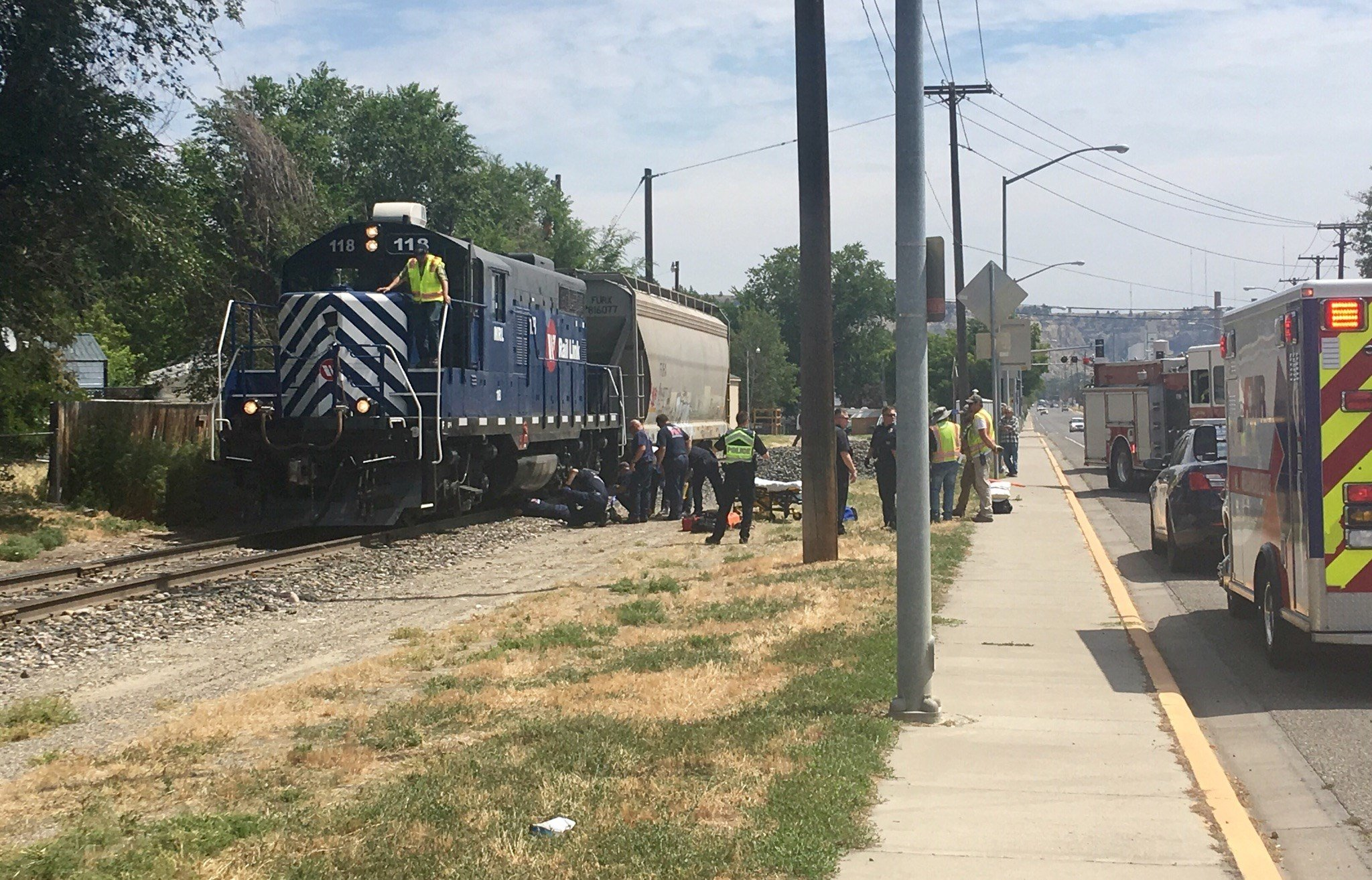 The woman was hit by the train on the Billings Southside (MTN News)