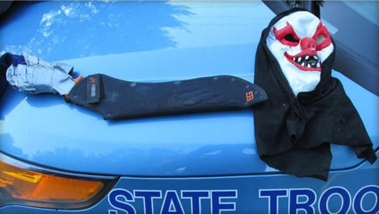Machete-Wielding Clown Arrested In Maine
