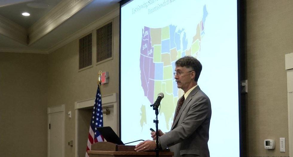 Patrick Barkey of University of Montana's Bureau of Business and Economic Research. (MTN News photo)