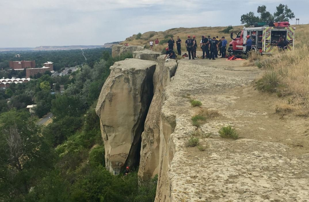 Rescue crews were at the scene of an incident on the Rims on Tuesday. (MTN News/Dustin Klemann photo)