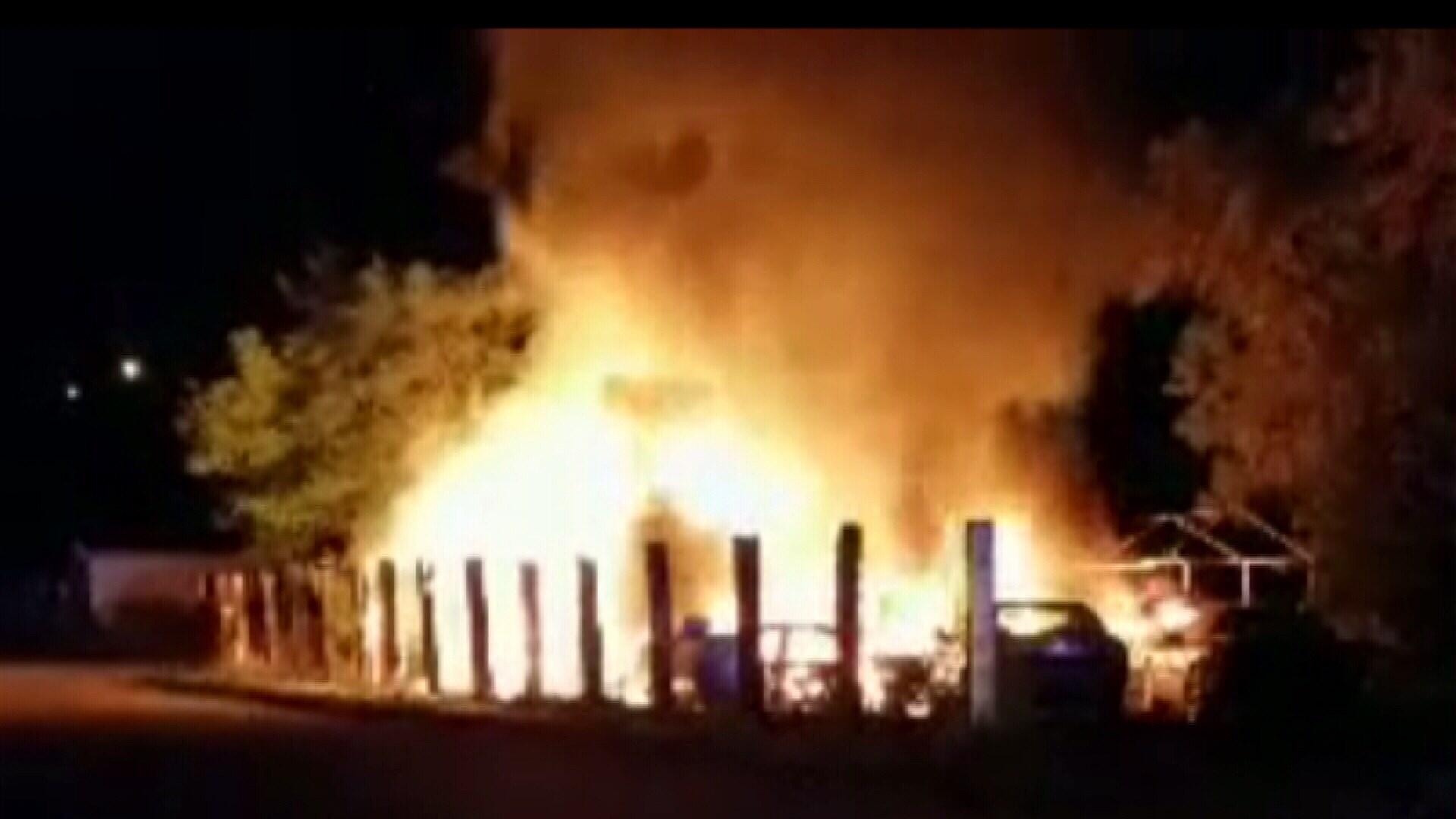 Fire tears through the murder scene (BHCSO)