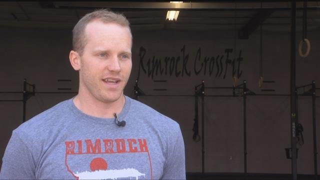 Mark Desin is the owner of Rimrock CrossFit and in charge of the event. (MTN News photo)