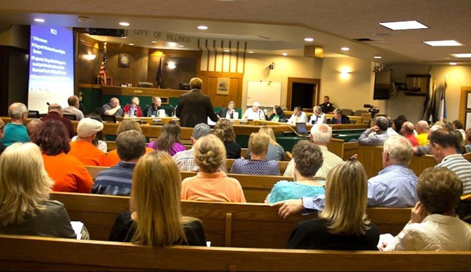 Billings City Council meetings occasionally become contentious as they make decisions concerning many aspects of city life. (Ed Kemmick/Last Best News)
