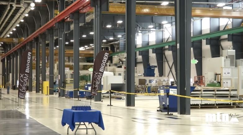 The Helena facility is one of 12 manufacturing sites in Boeing's commercial airplane fabrication operation. It specializes in precision machining on parts made from hard metals. (MTN News photo)