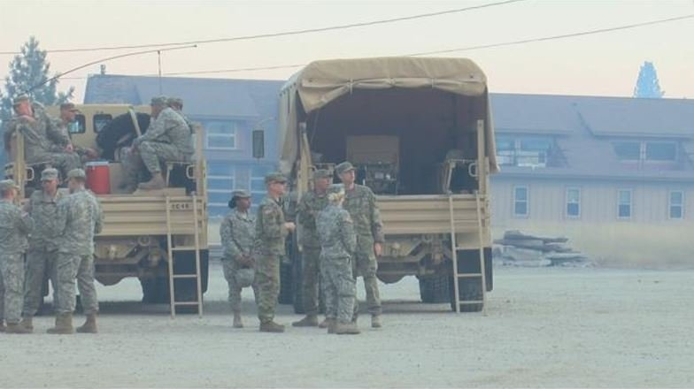 The 155 soldiers will staff 35 security checkpoints around the Lolo Peak fire. (MTN News)