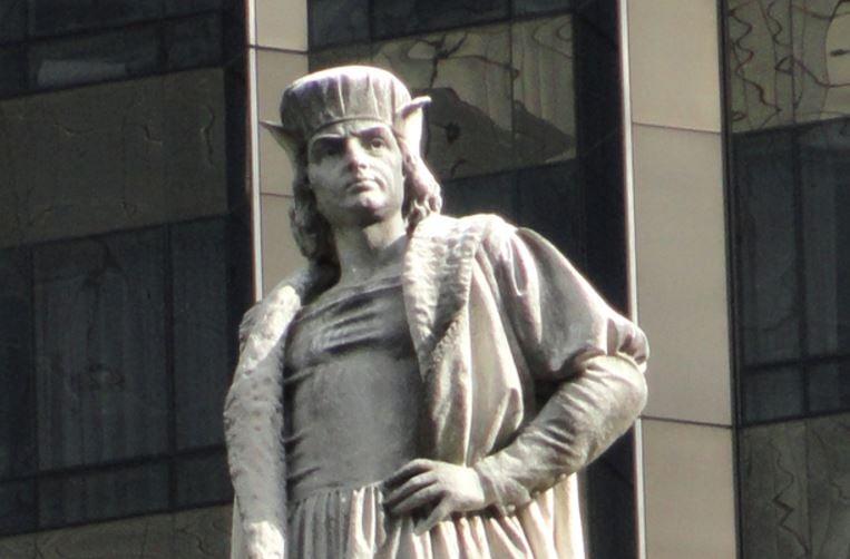 Christopher Columbus statue, Columbus Circle, New York City.  (WIKIMEDIA COMMONS)