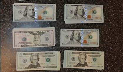 The U.S. Border Patrol sent along a picture of the U.S. currency seized from a Canadian who tried sneaking into the United States. (U.S. Border Patrol)