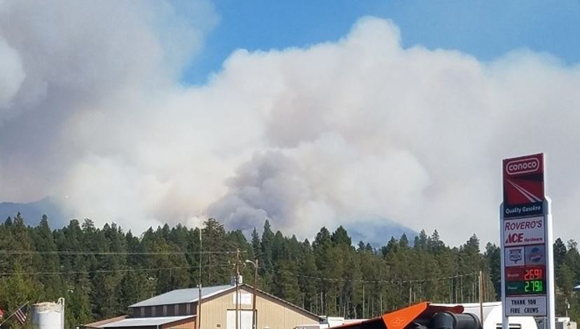 The Rice Ridge fire is burning just north of the town of Seeley Lake. (Jeff McLean)