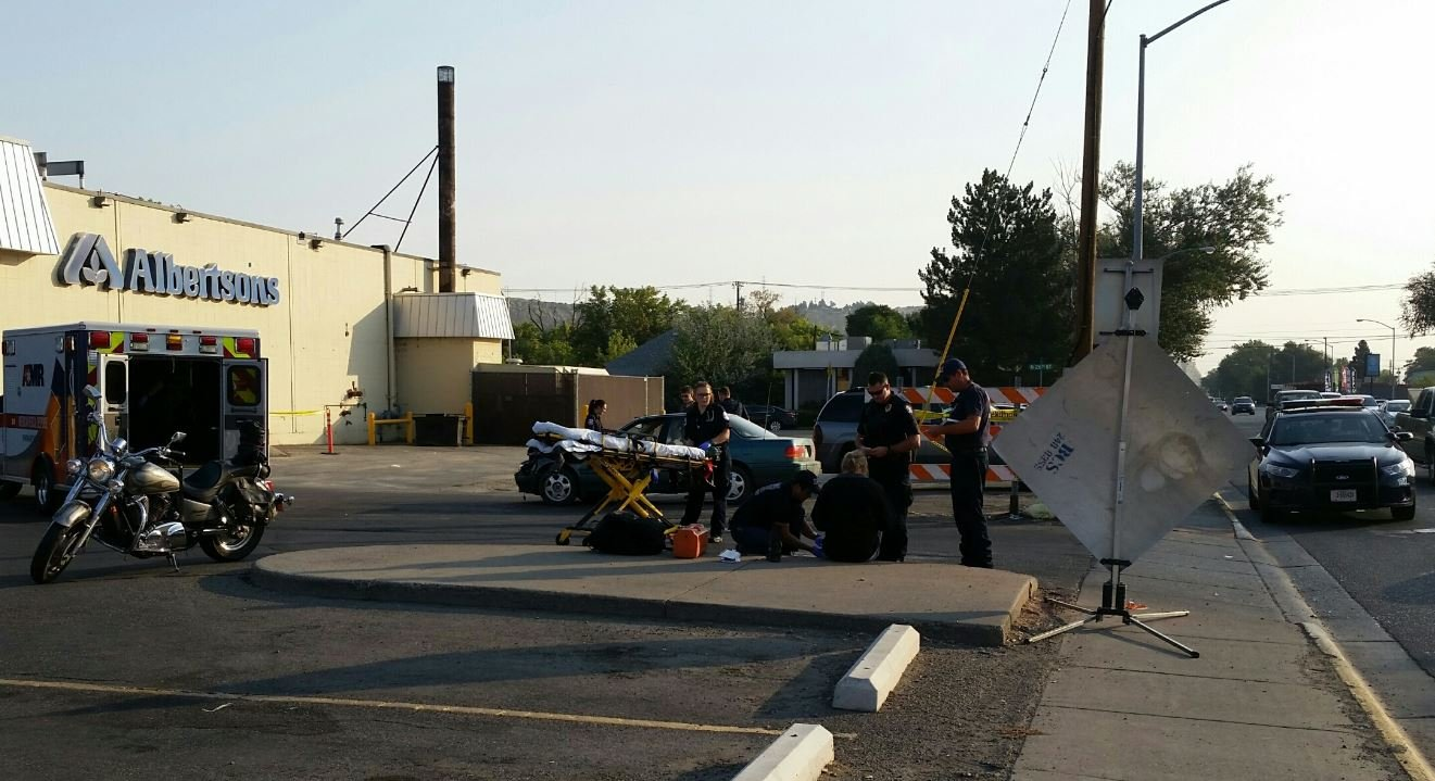 A motorcyclist was injured in a crash Monday morning. (MTN News/Rob Mopnaco photo)