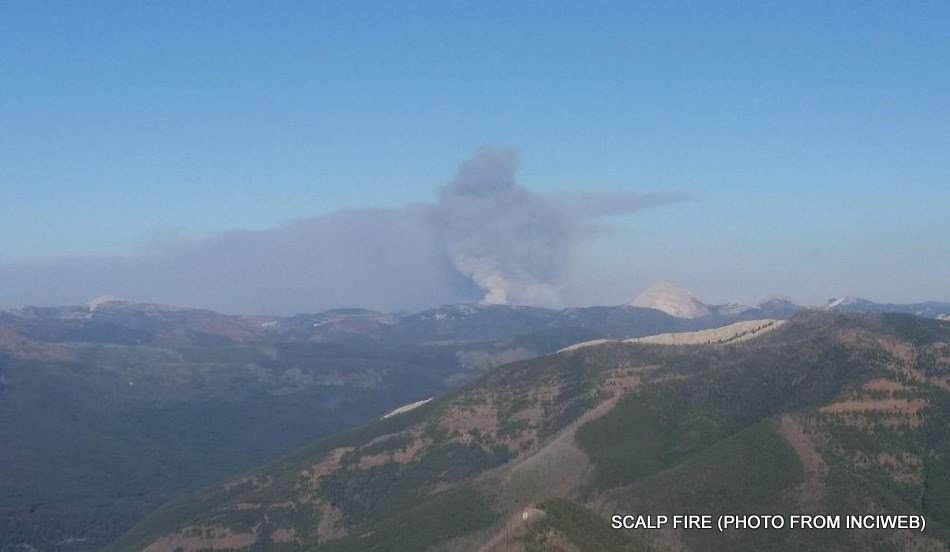 Scalp fire (Courtesy of Inciweb)
