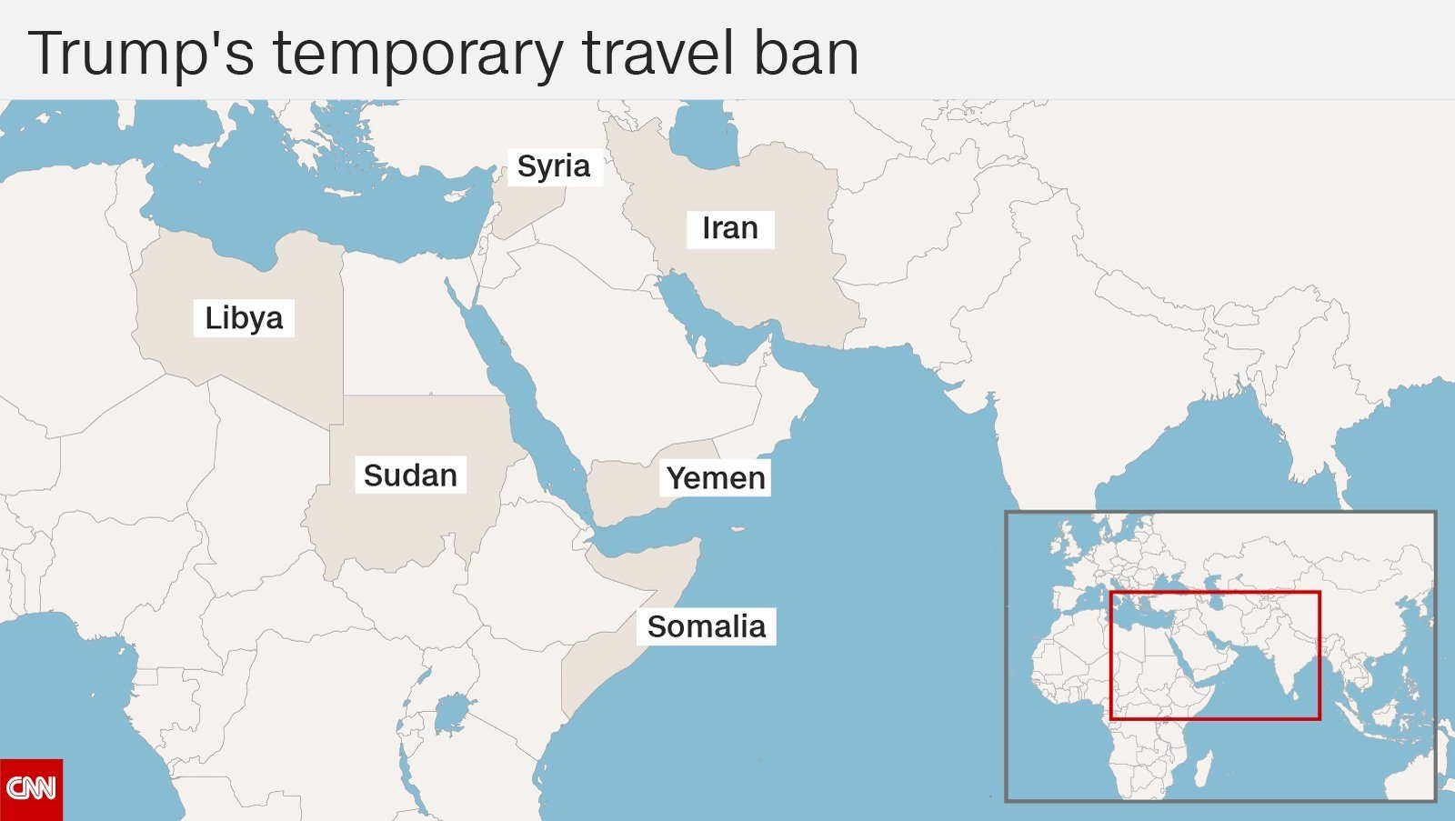 These countries would be affected by the proposed travel ban, which is under review by the U.S. Supreme Court (CNN)