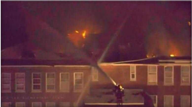 Flames consume Robert E. Lee Elementary School in Tampa on September 12, 2017  WTSP-TV