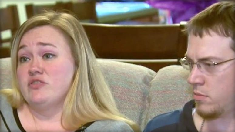 Heather and Mike Martin are seen in an interview with CBS Baltimore station WJZ-TV.  WJZ-TV