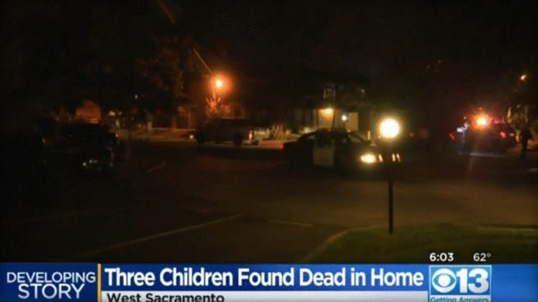 Father arrested in deaths of three children