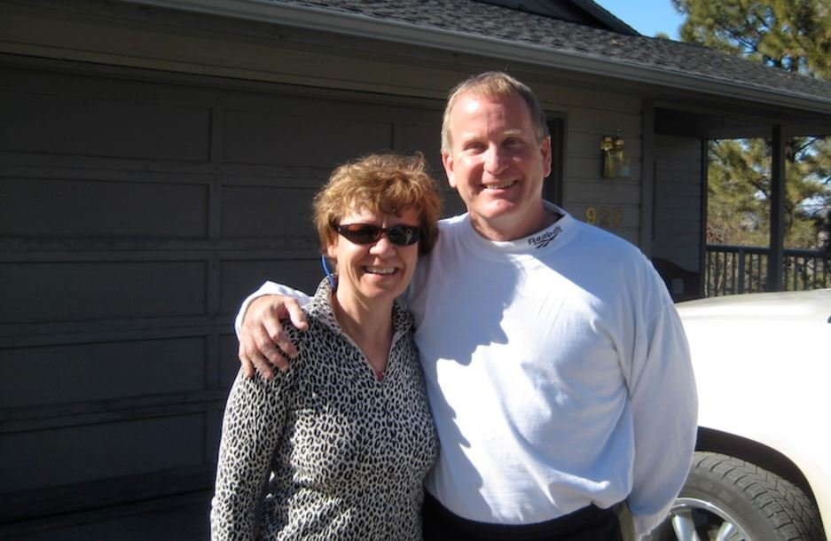 Kurt and Jacque Corey, on a visit to Dennis Taylor's home in Helena, March 2010. (Photo courtesy of Dennis Taylor)