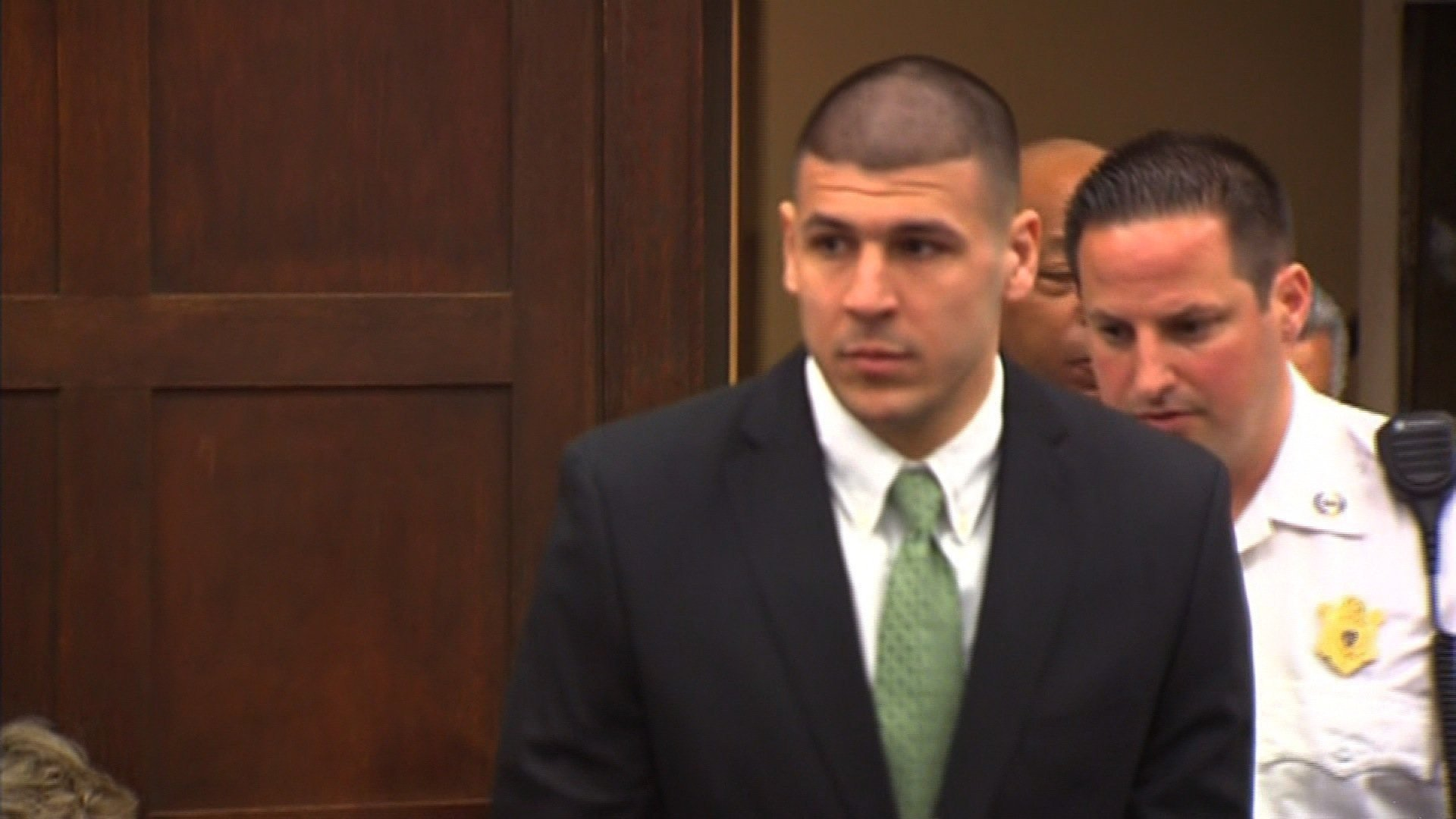 Aaron Hernandez, seen in court. (CNN file photo)
