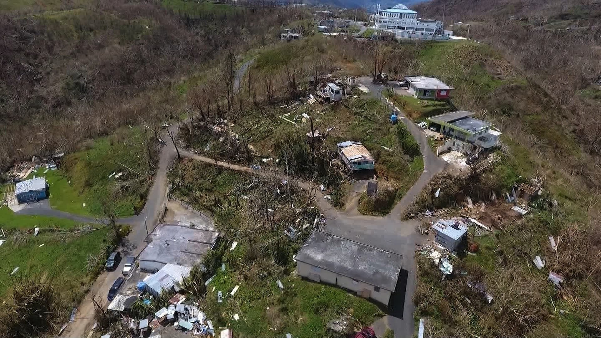 An image showing the devastation Hurricane Maria caused in Puerto Rico. courtesy of CNN.