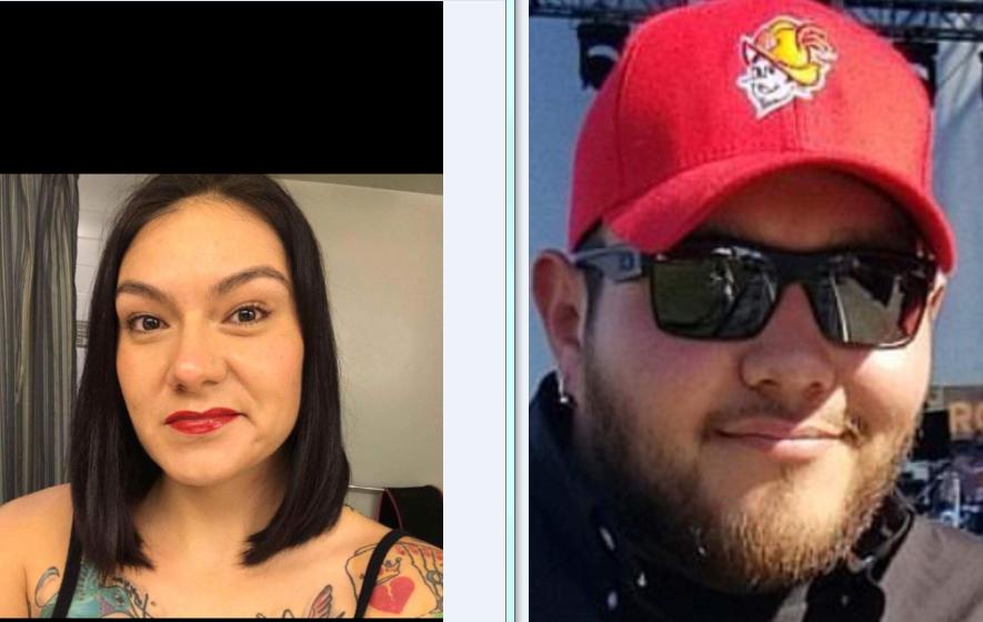Shawnta Flatness, left, and Tony Chavez. photo courtesy of Northern Cheyenne.