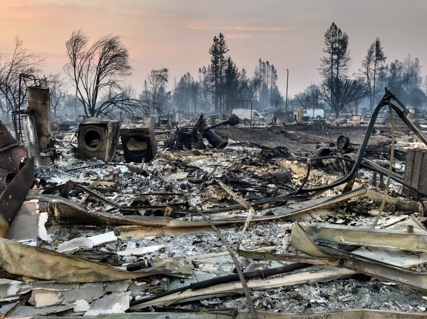 Picture of fire damage in Santa Rosa, Calif. courtesy of CNN.