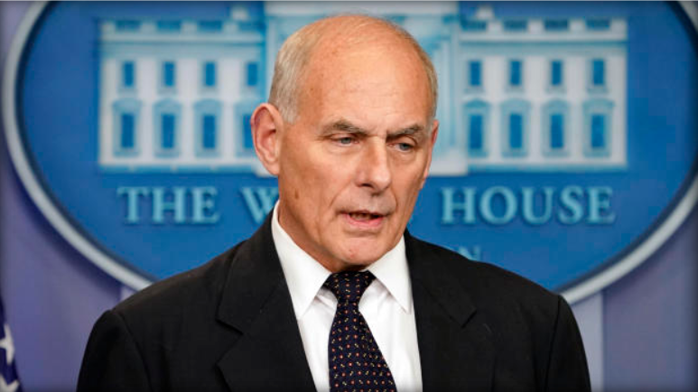 White House Chief of Staff John Kelly speaks to reporters Oct. 19, 2017. courtesy of CBS News.