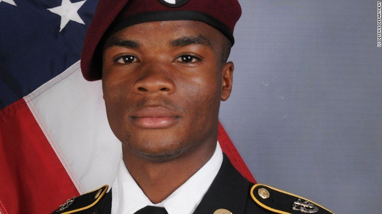 Sgt. La David T. Johnson was part of a joint U.S. and Nigerian train, advise and assist mission.Sgt. Johnson, 25, of Miami Gardens, Florida, died October 4, 2017 in southwest Niger as a result of enemy fire. (CNN)