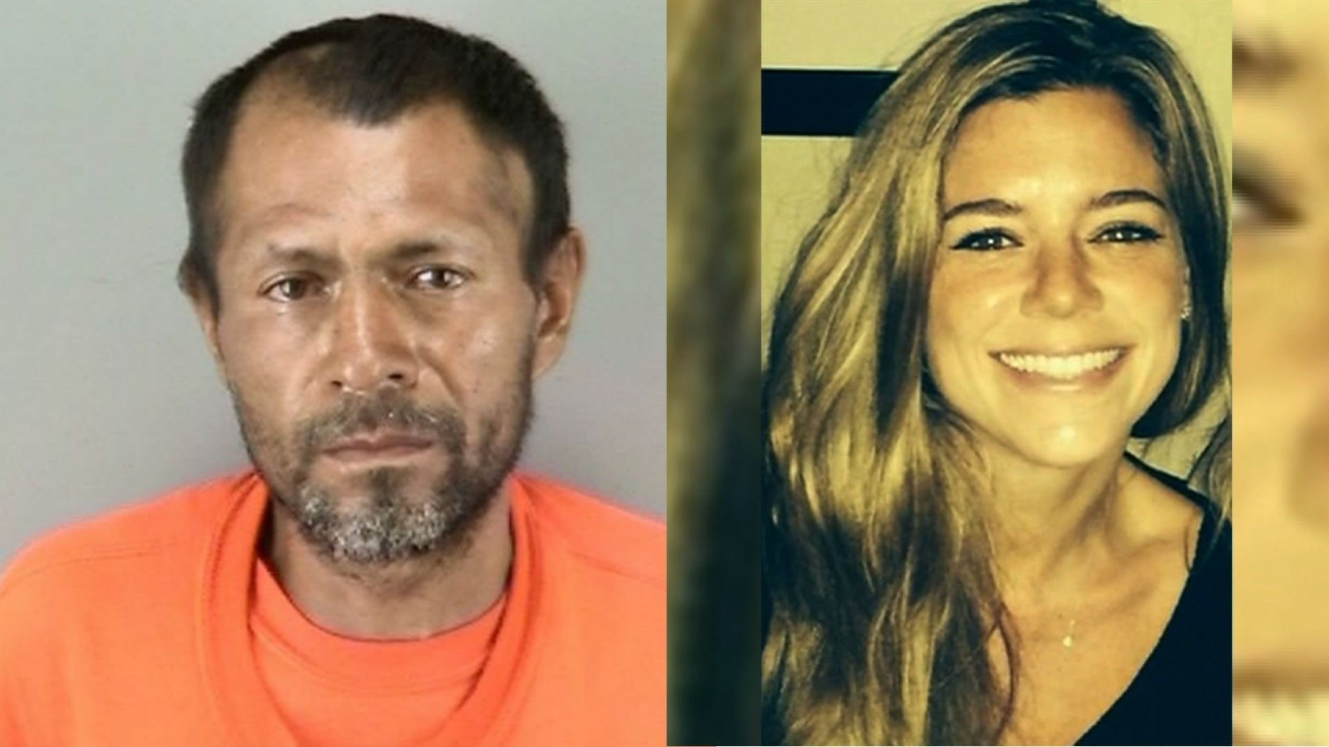 Kate Steinle (right) was shot and killed on July 1, 2015 near San Francisco's Pier 14. In an interview with CNN affiliate KGO, Juan Francisco Lopez-Sanchez (left) admitted that he shot Steinle but that the shooting was an accident. photo courtesy of CNN