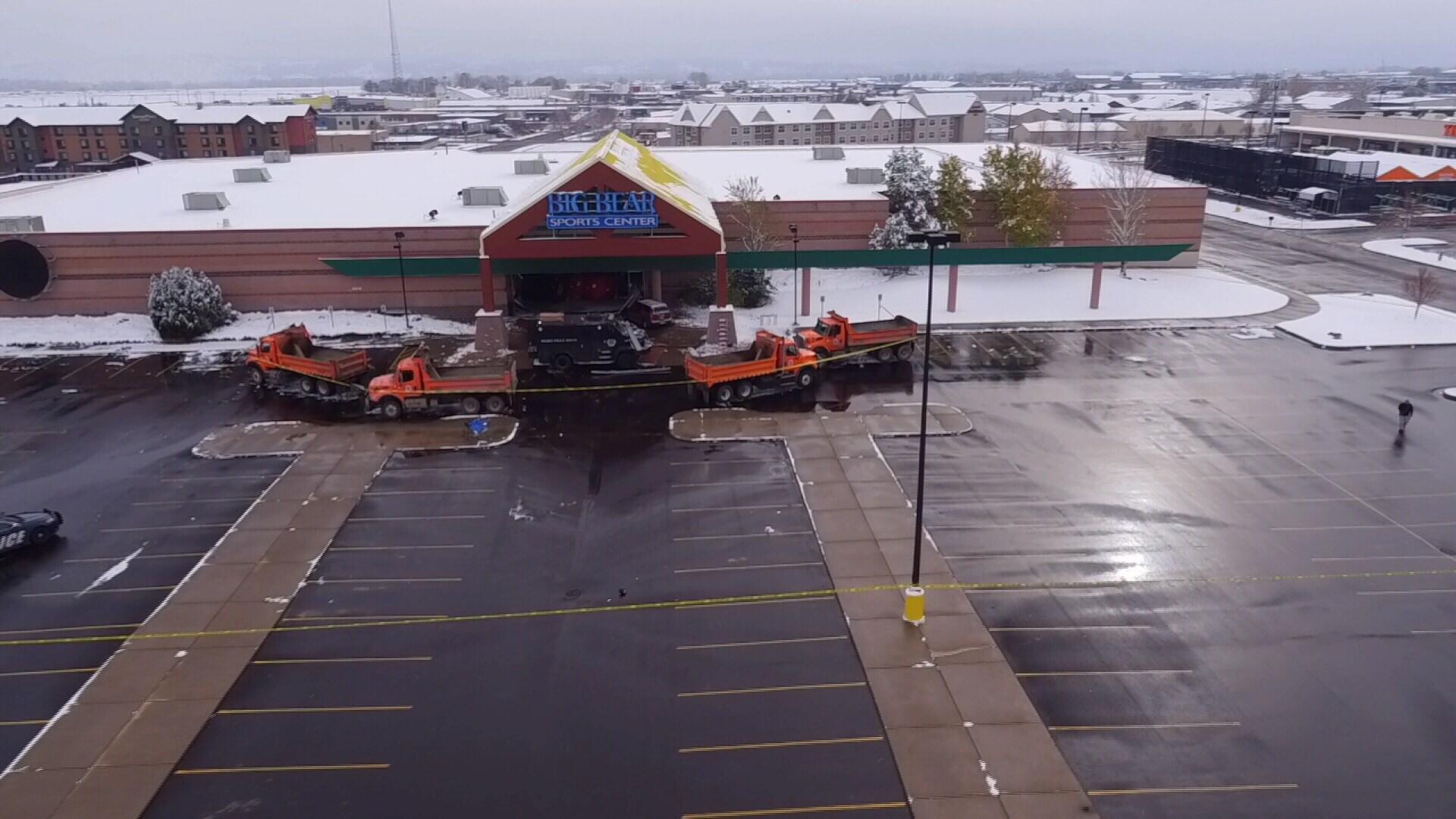 Big Bear Sports Center was damaged after Saturday standoff (MTN News)