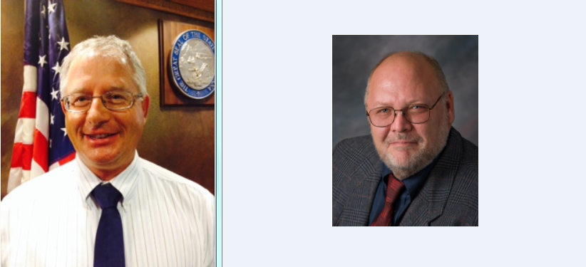 Incumbents Mike Yakawich, left, and Shaun Brown both won their races.